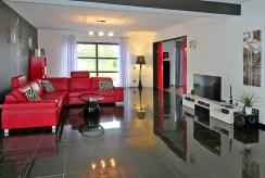 widok na salon w luksusowej willi na sprzedaż Kwidzyn