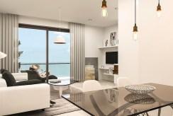 widok z innej perspektywy na elegancki salon w ekskluzywnym apartamencie na sprzedaż Hiszpania (Torreviej)