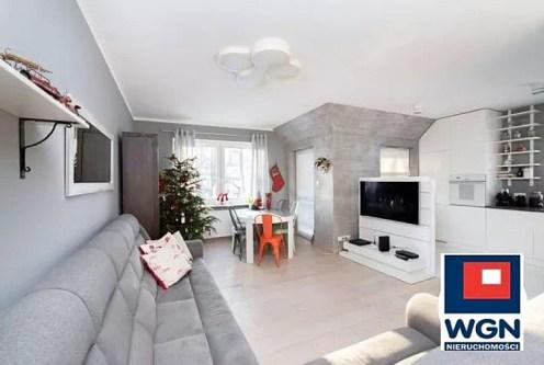 nowoczesny projekt salonu w ekskluzywnym apartamencie do sprzedaży Gdynia