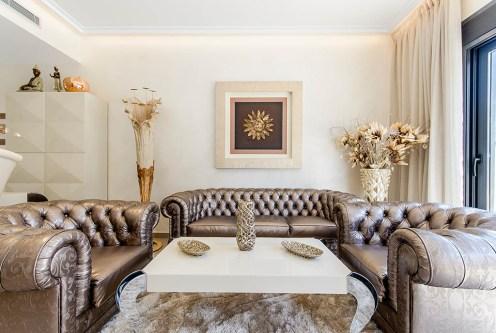 eleganckie wnętrze salonu w ekskluzywnej rezydencji do sprzedaży Hiszpania (Campoamo)