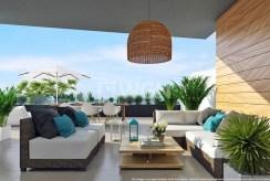 ogromny, widokowy taras przy luksusowym apartamencie na sprzedaż Hiszpania
