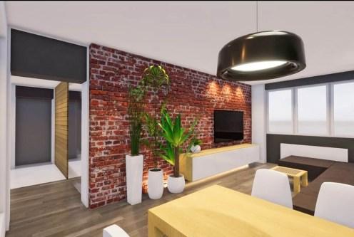 nowoczesny salon w ekskluzywnym apartamencie do sprzedaży Kalisz