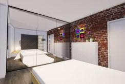 widok na elegancką sypialnię w luksusowym apartamencie do sprzedaży Kalisz