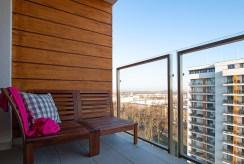 widokowy taras przy ekskluzywnym apartamencie do sprzedaży Poznań
