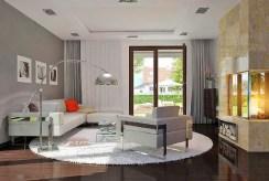 prestiżowy pokój dzienny w luksusowej willi na sprzedaż Suwałki (okolice)
