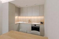 zabudowana funkcjonalnie kuchnia w luksusowym apartamencie na sprzedaż Ostrów Wielkopolski
