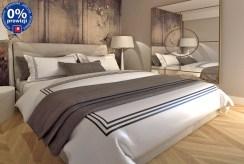 zaciszna sypialnia w ekskluzywnym apartamencie na sprzedaż Katowice (okolice)