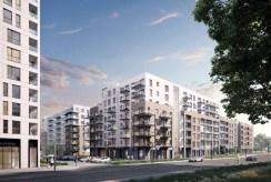 na pierwszym planie osiedle, na którym znajduje się ekskluzywny apartament do sprzedaży Gdańsk