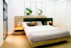 elegancka sypialnia w luksusowym apartamencie do sprzedaży Hiszpania (Orihuela Costa, Villamartin)