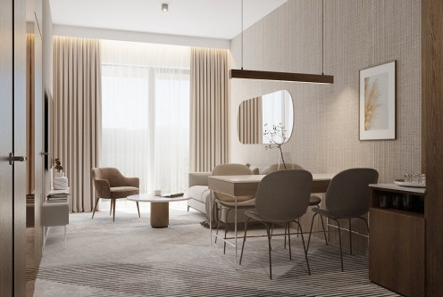 na zdjęciu wytworny pokój dzienny w ekskluzywnym apartamencie do sprzedaży Jelenia Góra (okolice)