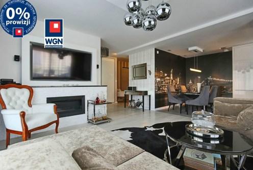 okazały pokój dzienny w luksusowym apartamencie na sprzedaż Trójmiasto