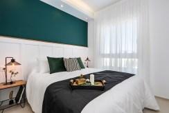 zaciszna sypialnia w luksusowym apartamencie na sprzedaż Hiszpania