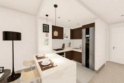 nowoczesna kuchnia i jadalnia w ekskluzywnym apartamencie na sprzedaż Hiszpania (Manilva, Malaga)