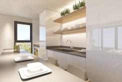 zaprojektowana zgodnie z najnowszymi trendami kuchnia w ekskluzywnym apartamencie na sprzedaż Hiszpania (Fuengirola, Costa del Sol)