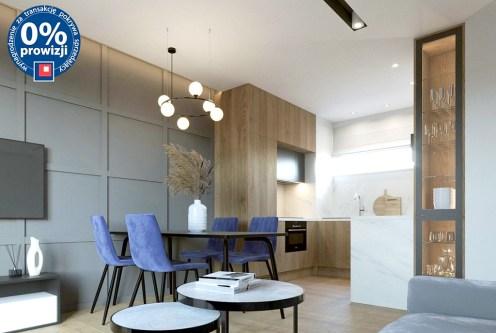 widok z salonu na aneks kuchenny w ekskluzywnym apartamencie do sprzedazy Lublin