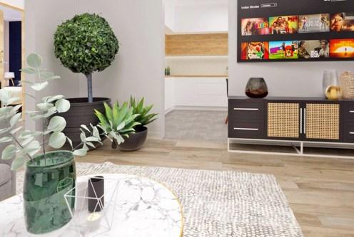 nowoczesny pokój dzienny w ekskluzywnym apartamencie do sprzedaży Radomsko