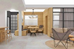 przestronny salon w luksusowym apartamencie na sprzedaż Szczyrk