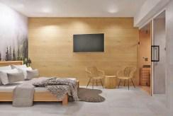 elegancka sypialnia w ekskluzywnym apartamencie do sprzedaży Szczyrk