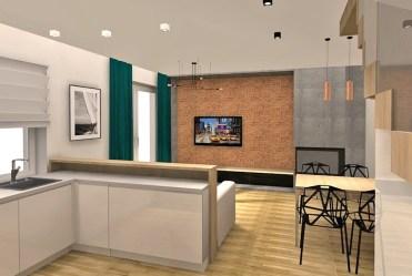 nowoczesny salon w luksusowej willi na sprzedaż Szczecin
