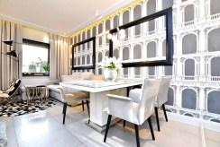 elegancka jadalnia w luksusowym apartamencie na sprzedaż Inowrocław