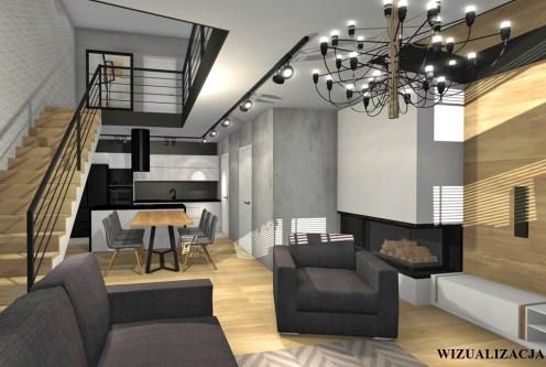 2-poziomowe wnętrze luksusowego apartamentu na sprzedaż Kwidzyn