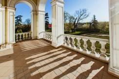 imponujący taras przy ekskluzywnym pałacu do sprzedaży Wielkopolska