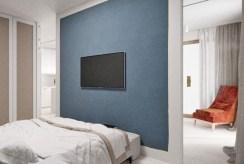 komfortowa sypialnia w ekskluzywnym apartamencie do sprzedaży nad morzem