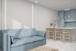 funkcjonalny i elegancki aneks kuchenny w ekskluzywnym apartamencie do sprzedaży nad morzem