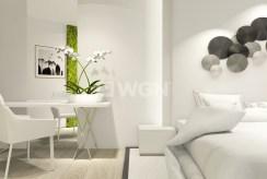 zbliżenie na umeblowany stylowo salon w luksusowym apartamencie w Szczecinie na sprzedaż
