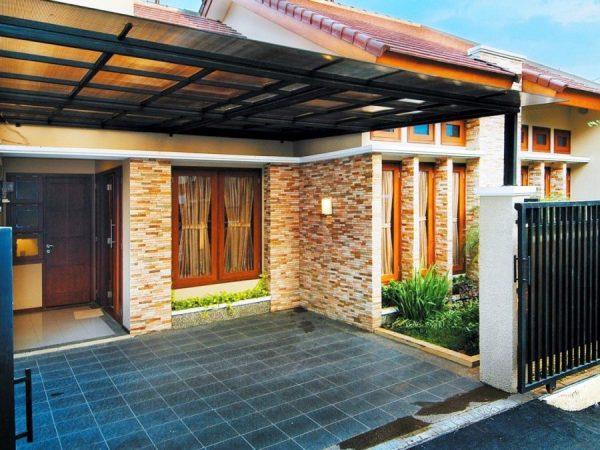 teras rumah minimalis batu alam keren bangets