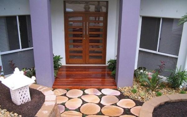 teras rumah minimalis dari batu alam