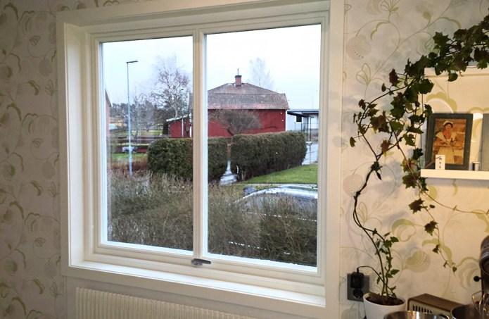 Efter fönsterbyte, Ekstrands Sverige104 vridfönster TopSwing med glasdelande post