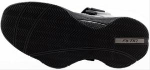 Ektio Grey/Black Breakaway Ankle Support Basketball Shoes Bottom View