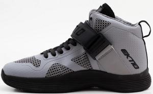 Ektio Grey/Black Breakaway Ankle Support Basketball Shoes Side View (Inside)
