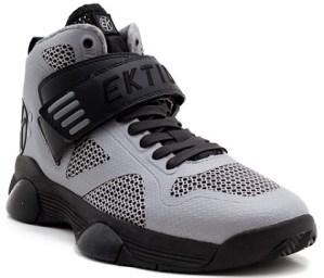 Ektio Grey/Black Breakaway Ankle Support Basketball Shoes