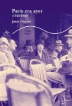 París era ayer-Janet Flanner-portada
