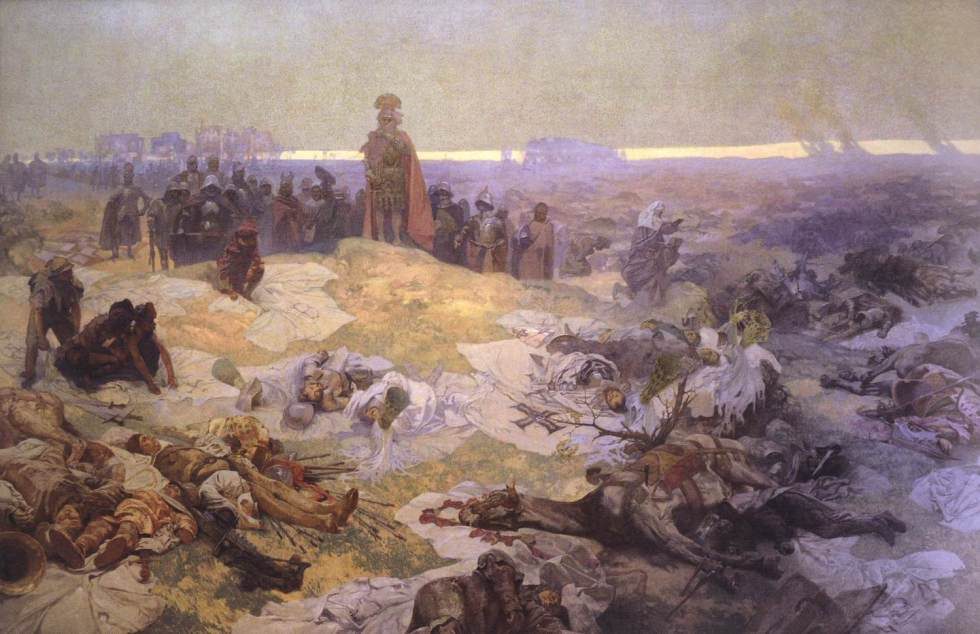 After_the_Battle_of_Grunwald_-_Alfons_Mucha