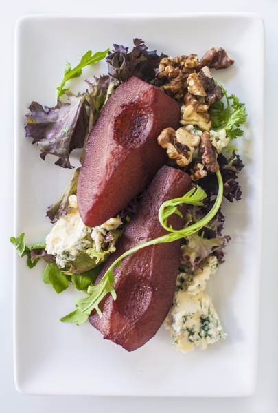Poached Pears & Cashel Blue cheese
