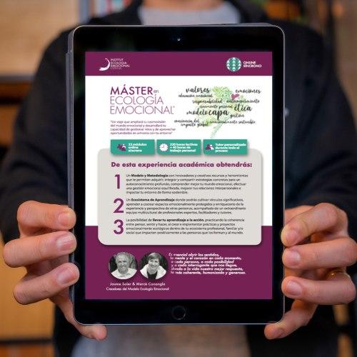 Imagen para descargar el programa completo del Máster en Ecología Emocional