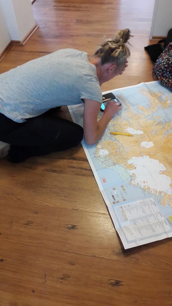 De kaart van IJsland uitpluizen