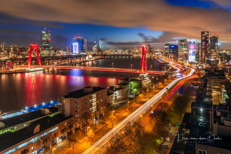 Uitzicht over Rotterdam