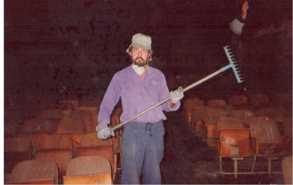 فرانسوا ابو سالم - اول يوم عمل في المسرح عام 1983