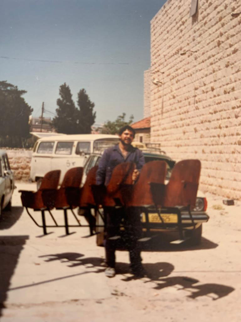 Amer Khalil preparing the stage for the opening