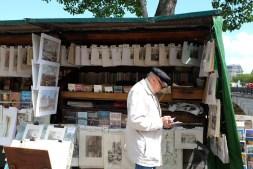 Bouquiniste dans Paris