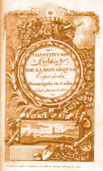 Edición original de la Constitución de 1812