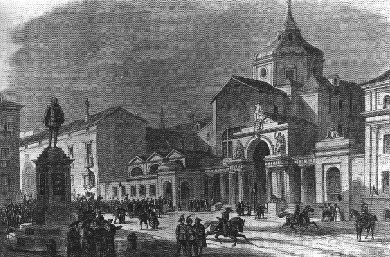 Antiguo edificio que hoy ocupa el Palacio de las Cortes