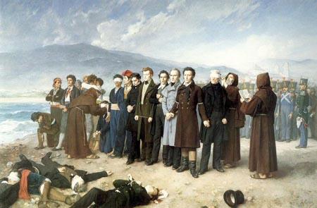 Fusilamiento de Torrijos. Óleo de Antonio Gisbert Pérez
