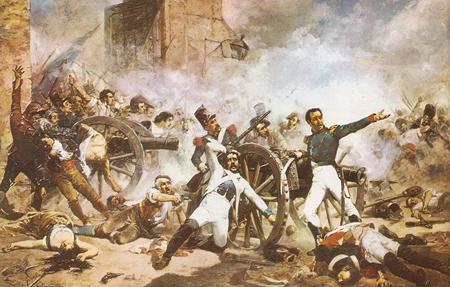 """""""Defensa del Parque de Artillería de Monteleón"""", Joaquín Sorolla y Bastida"""