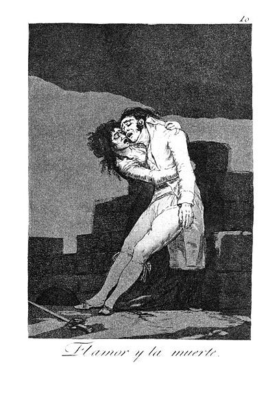 """""""El amor y la muerte"""", Capricho de 1799, Francisco de Goya y Lucientes"""