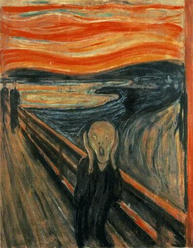 """""""El Grito"""", cuadro pintado por Edvard Munch en 1893"""